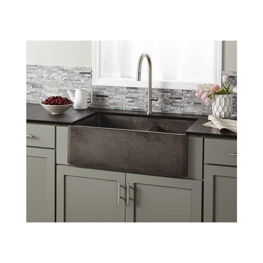 "Native Trails 33"" x 21"" Farmhouse Reversible Kitchen Sink - Slate NSKD3321-S"