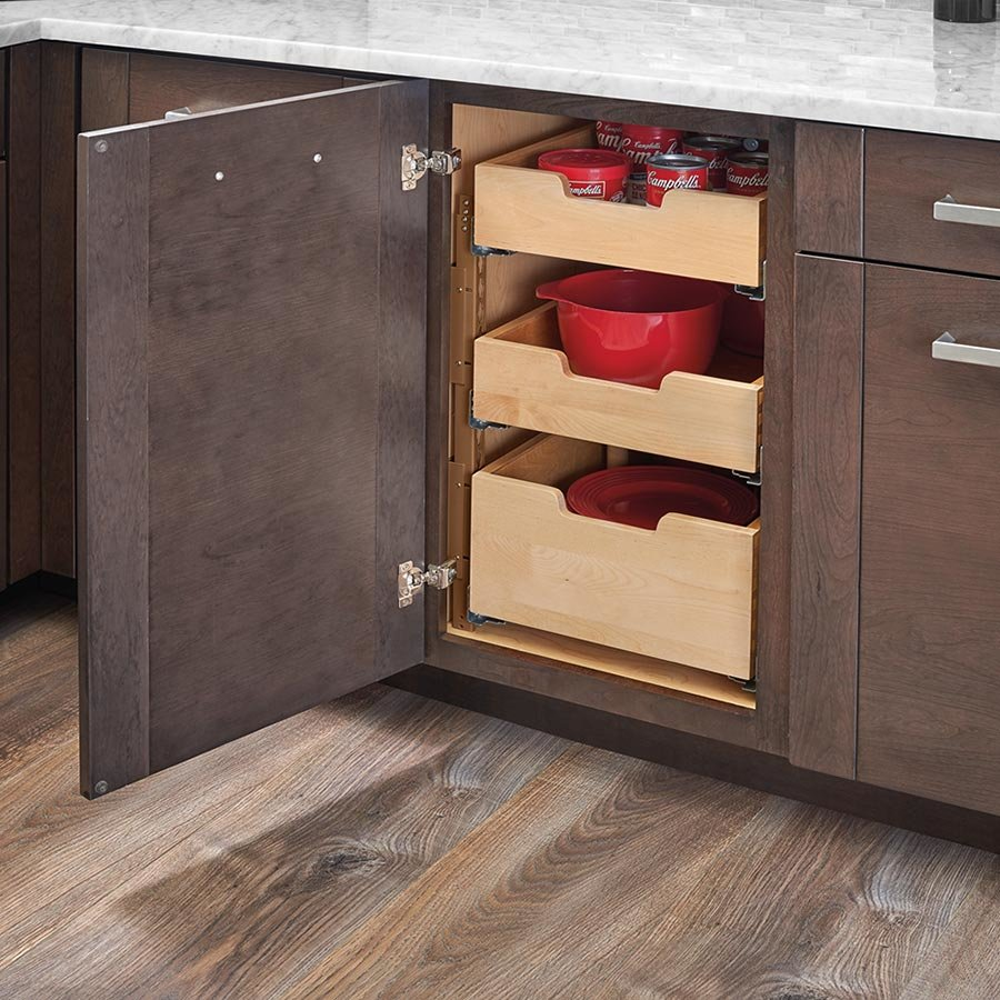 Tall Drawer With Dividers For 24 Inch Cabinet With Blum Slides
