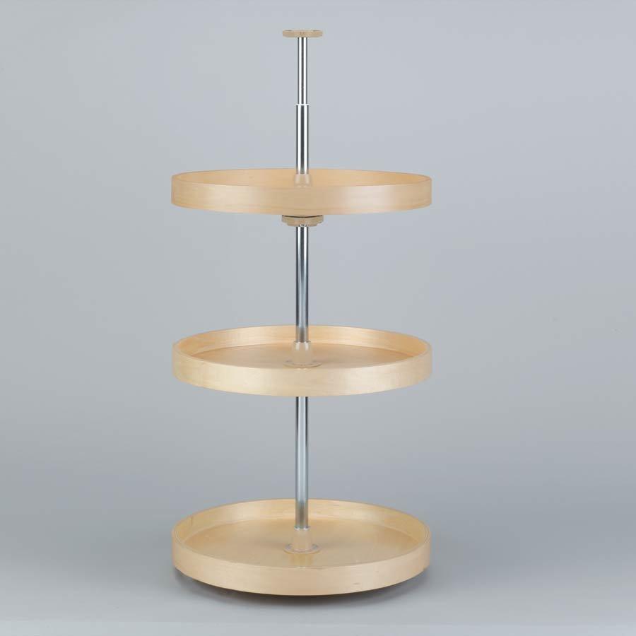 Rev-A-Shelf Full Circle Three Shelf Set 18 inch Diameter - Wood LD-4BW-063-1836-1