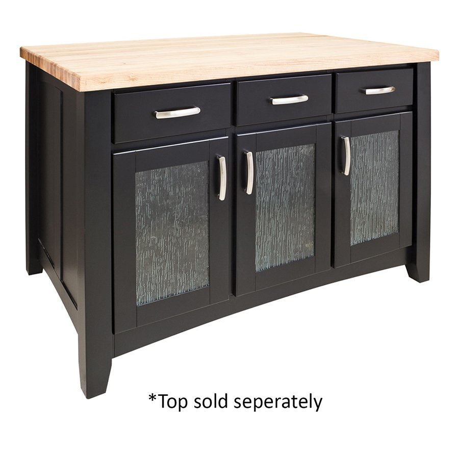 Jeffrey Alexander 52 inch Contemporary Kitchen Island with o Top - Black ISL07-BLK