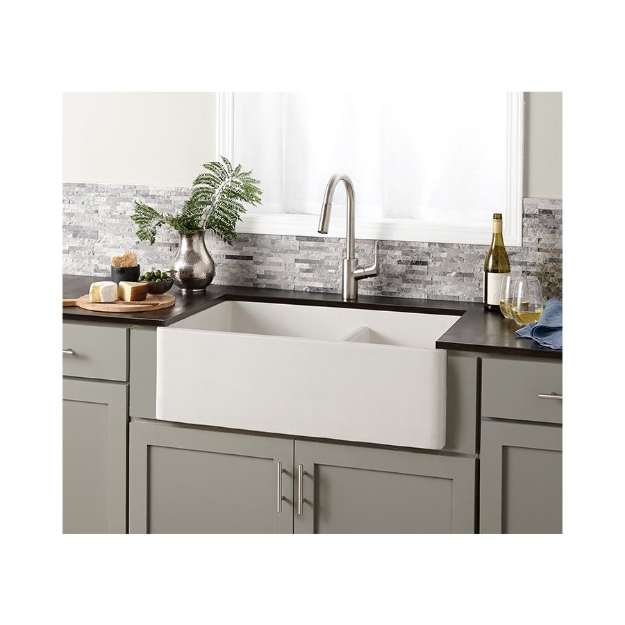 "Native Trails 33"" x 21"" Farmhouse Reversible Kitchen Sink - Pearl NSKD3321-P"
