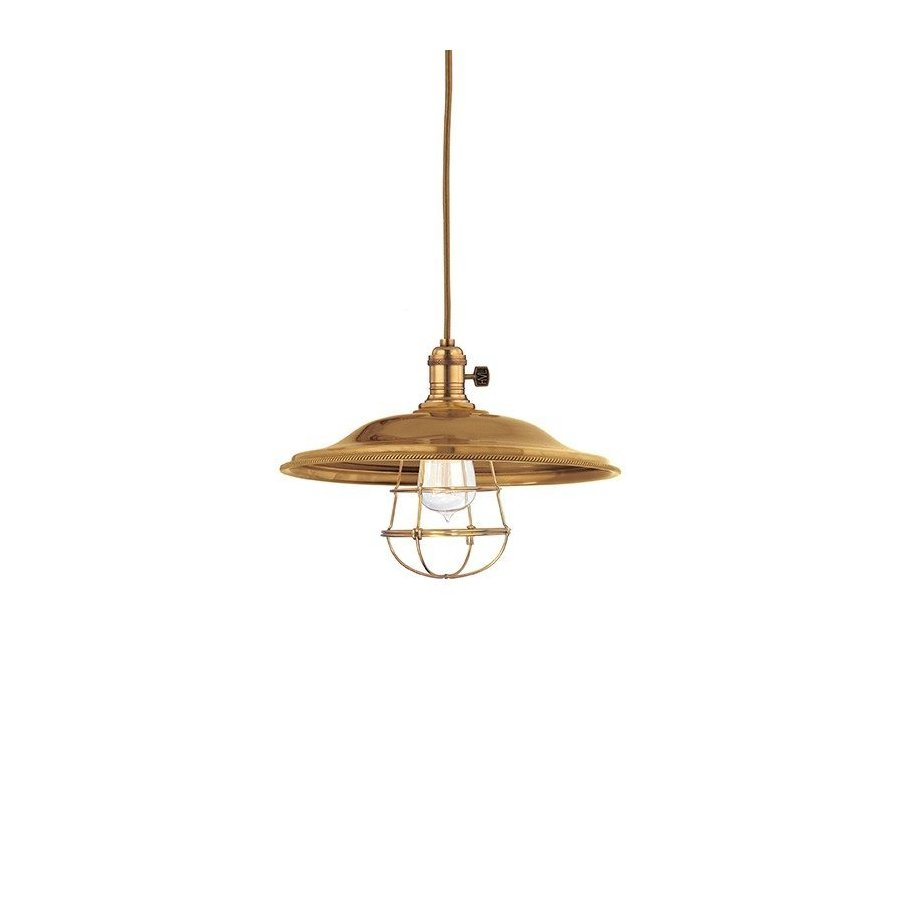 Hudson Valley Heirloom 1 Light Pendant - Aged Brass 8001-AGB-MS2-WG