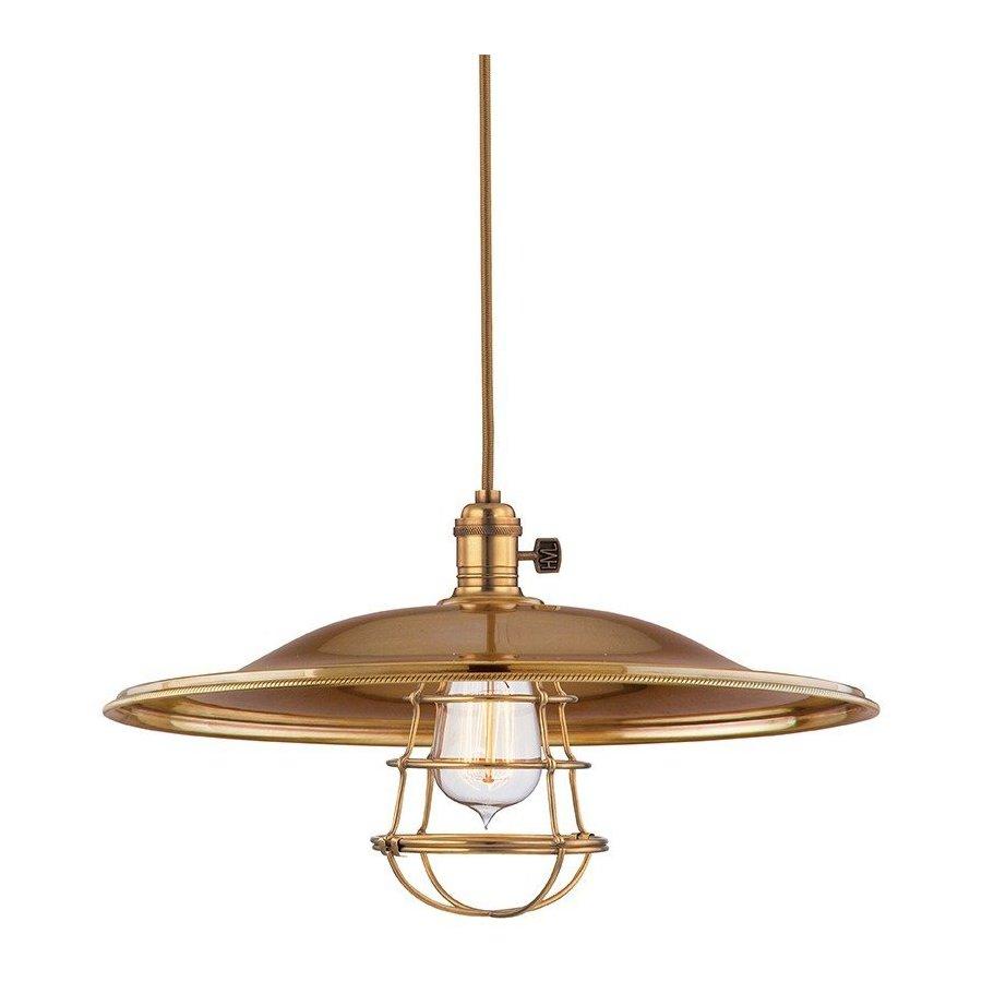 Hudson Valley Heirloom 1 Light Pendant - Aged Brass 8002-AGB-ML2-WG