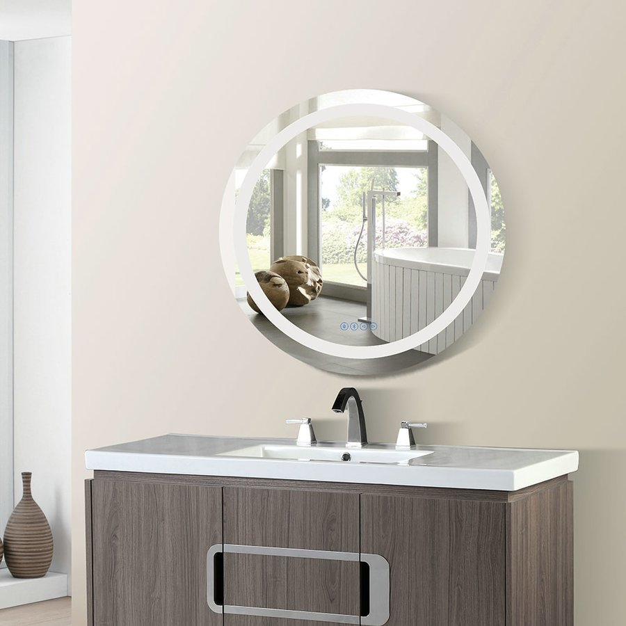 Bellaterra 36 Inch Round Mirror With Energy Efficent Led Framing