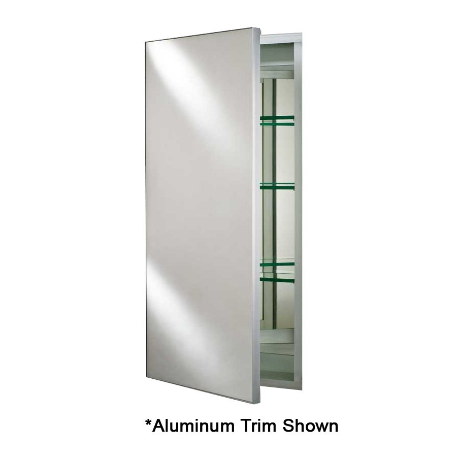 "Afina Broadway 15"" Mirrored Medicine Cabinet - Aluminum Trim SD 1525 R BRD (BV)"
