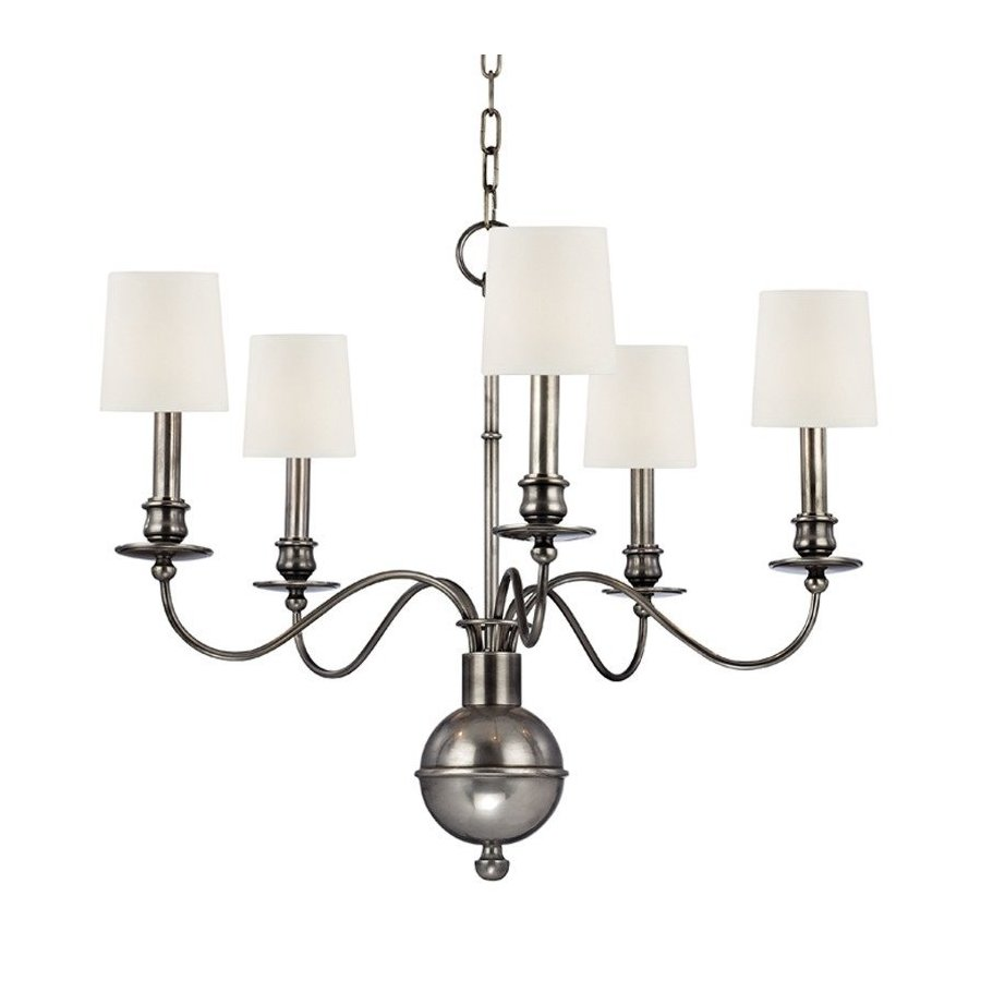 Hudson Valley Cohasset 5 Light Chandelier - Aged Silver 8215-AS-WS