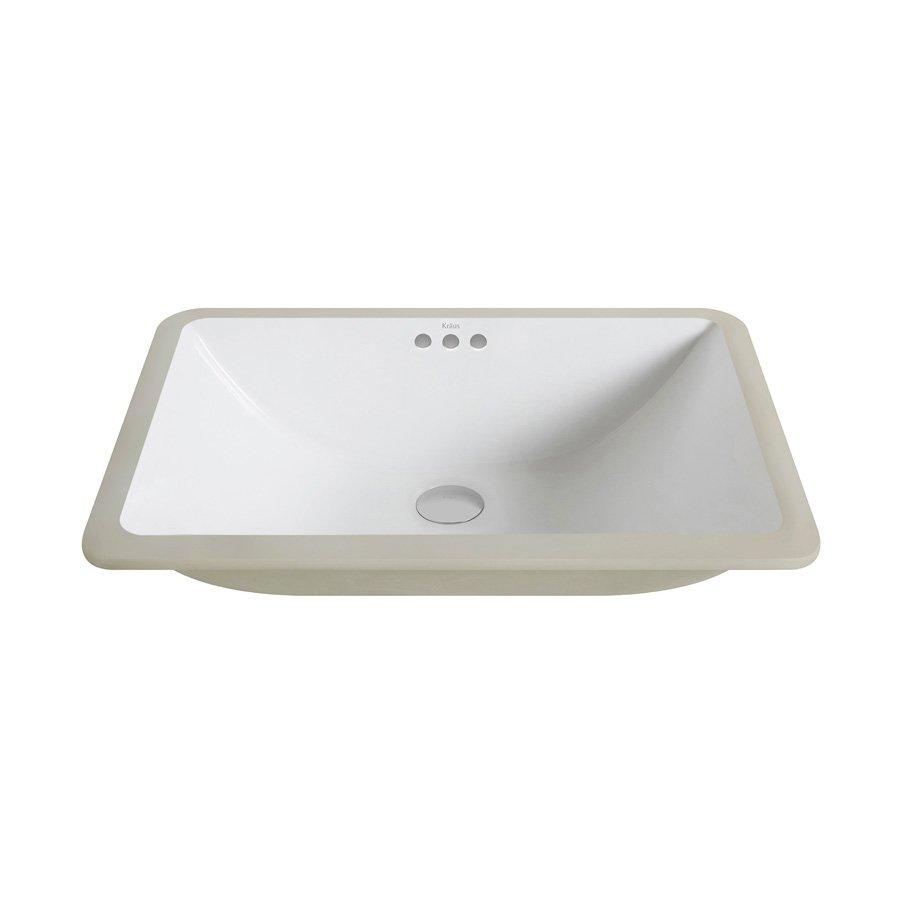 Kraus 23 elavo rectangular undermount bathroom sink - Rectangle undermount bathroom sink ...