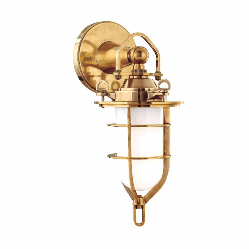 Hudson Valley New Canaan 1 Light Bathroom Sconce - Aged Brass 6501-AGB