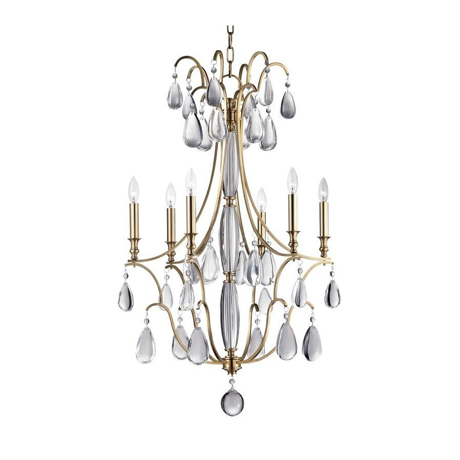 Hudson Valley Crawford 6 Light Chandelier - Aged Brass 9324-AGB