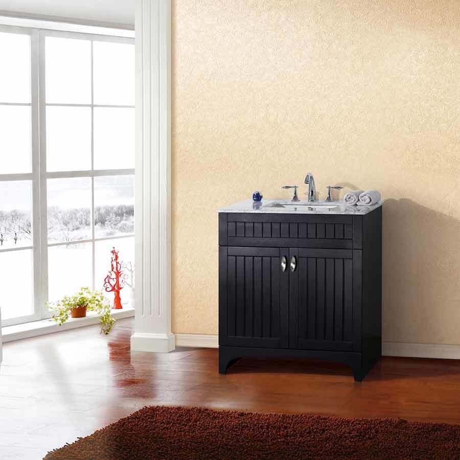 Bellaterra 32 Single Sink Bathroom Vanity Espresso White Top 7615 Es Wh J Keats