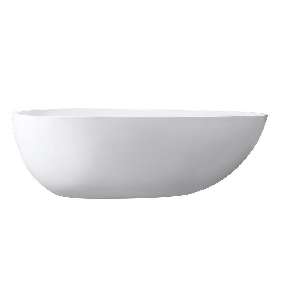 Avanity 67 Inch Gaia Acrylic Soaking Tub w/Center Drain, Pop-Up Drain, Overflow ABT1512-GL