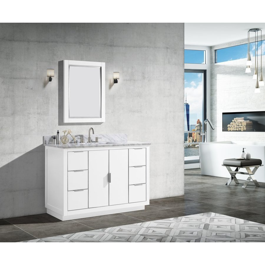 Avanity 49 Inch Austen Single Sink Vanity - White with ...