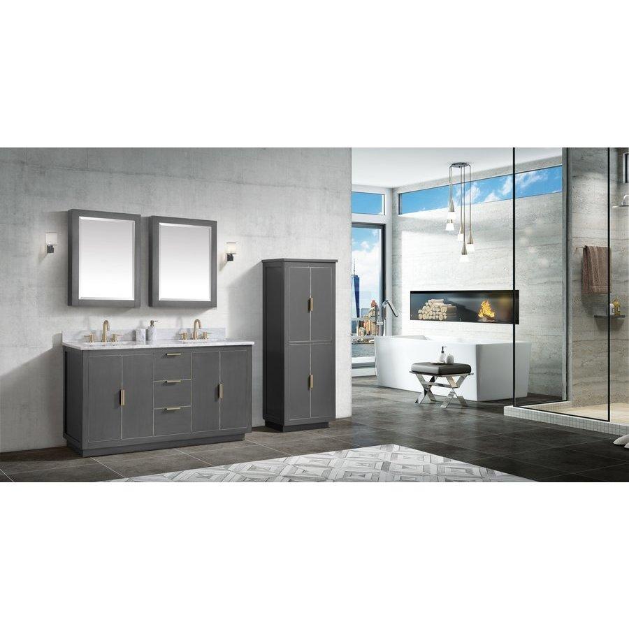 "Avanity 61"" Austen Combo Vanity - Carrara White Marble Top AUSTEN-VS61-TGG-C"