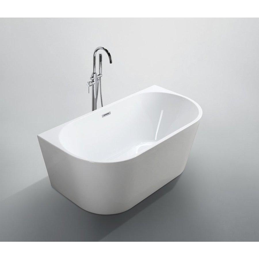 Bellaterra Calabria 59 Inch Freestanding Bathtub - Glossy White BA6815B