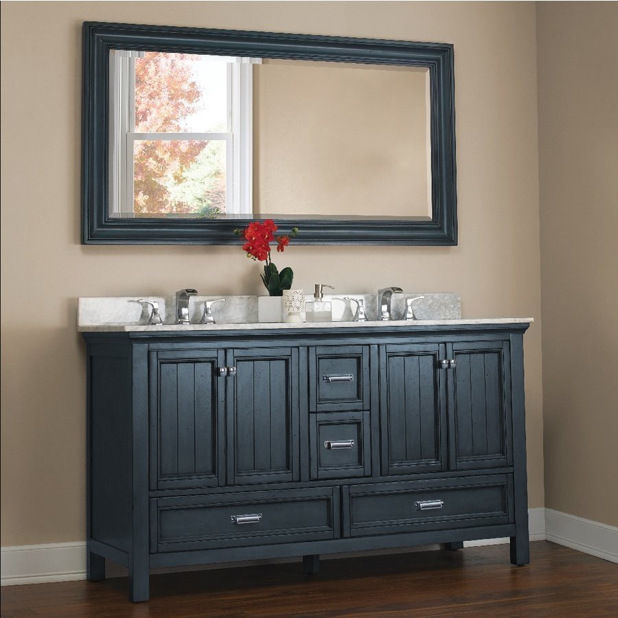 ... Foremost 60 Inches Free Standing Brantley Vanity Only   Harbor Blue  BABV6022D ...