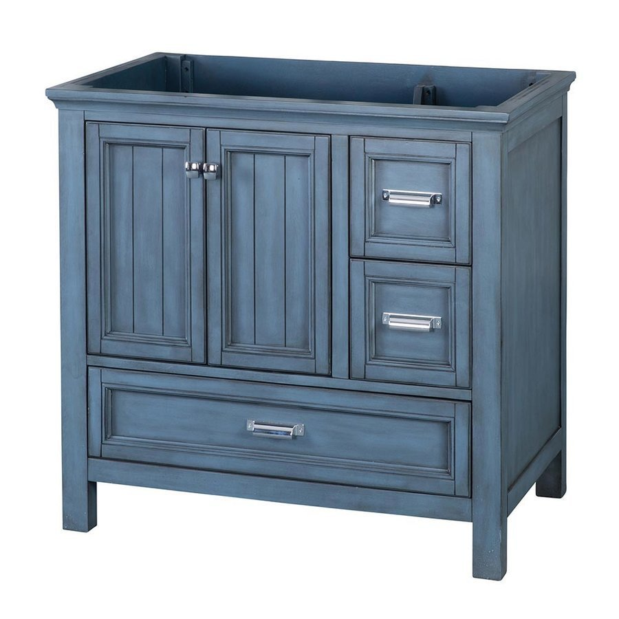 Foremost 36 Inches Free Standing Brantley Vanity Only - Harbor Blue BABV3622D