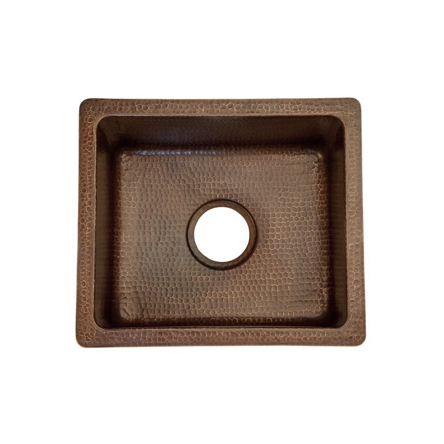 Premier Copper Products 16 Inch Rectangular Undermount Bar/Prep Sink- Oil Rubbed Bronze BREC16DB