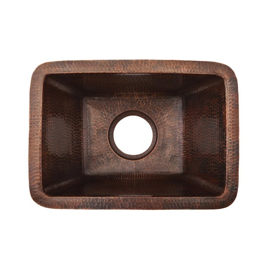 Premier Copper Products 17 Inch Rectangle Undermount Prep Sink- Oil Rubbed Bronze BRECDB3