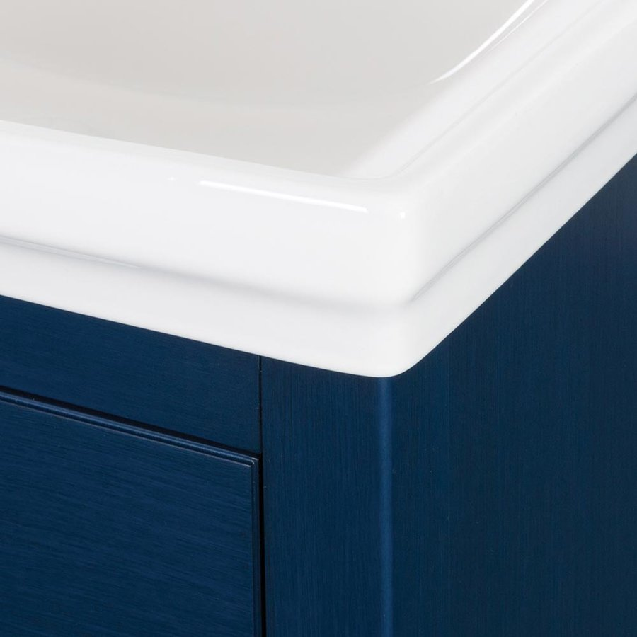 Foremost 24 Inches Free Standing Cherie Vanity with VC Top - Royal Blue CHBVT2435