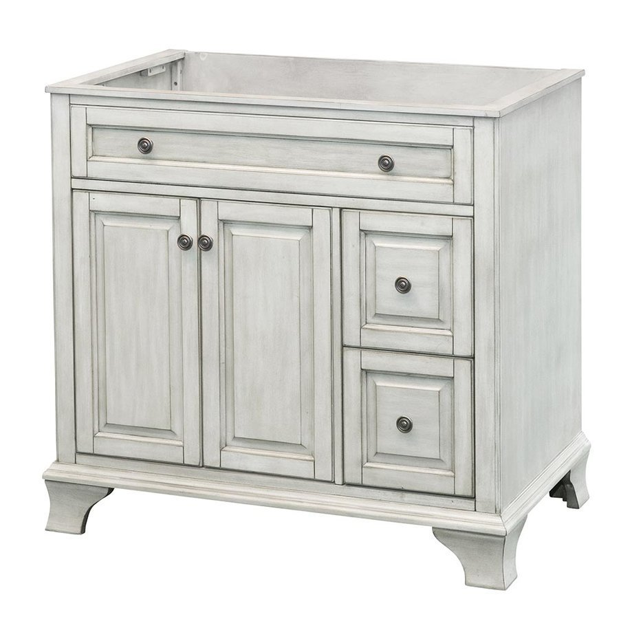 Foremost 36 Inches Free Standing Corsicana Vanity - Antique White CNAWV3622D
