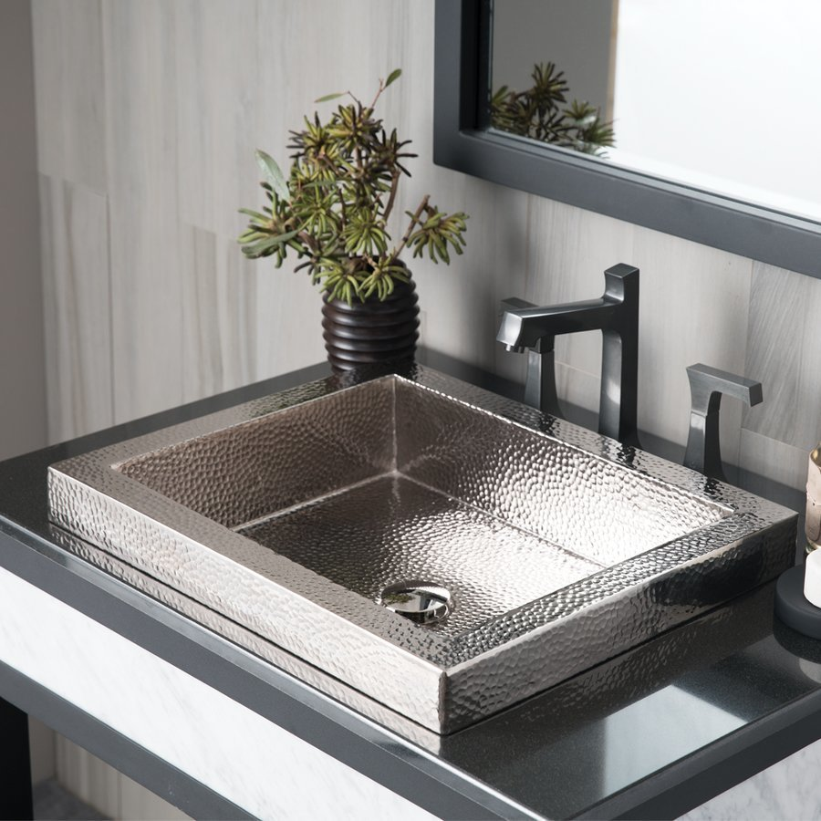 Native Trails 20x16 Inch Tatra Rectangular Drop-In Copper Sink - Polished Nickel CPS846