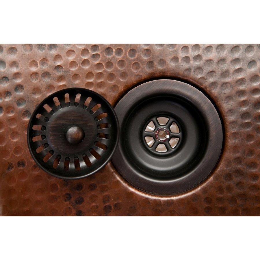 Premier Copper Products 3.5 Inch Kitchen, Prep, Bar Basket Strainer Drain - Oil Rubbed Bronze D-132ORB