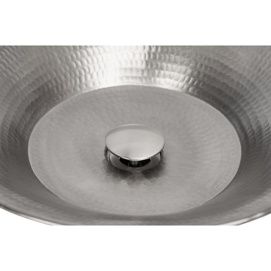 Premier Copper Products 1.5 Inch Non-Overflow Pop-up Bathroom Sink Drain - Brushed Nickel D-208BN