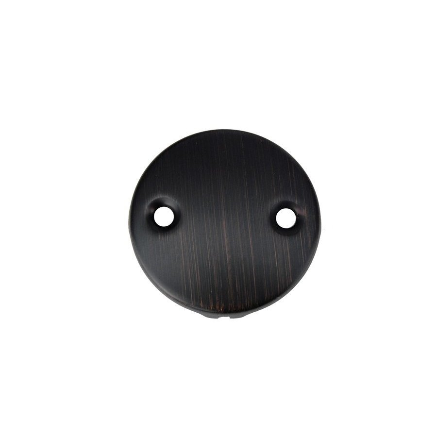 Premier Copper Products Tub Drain Trim and Two-Hole Overflow Cover for Bath Tubs - Oil Rubbed Bronze D-302ORB