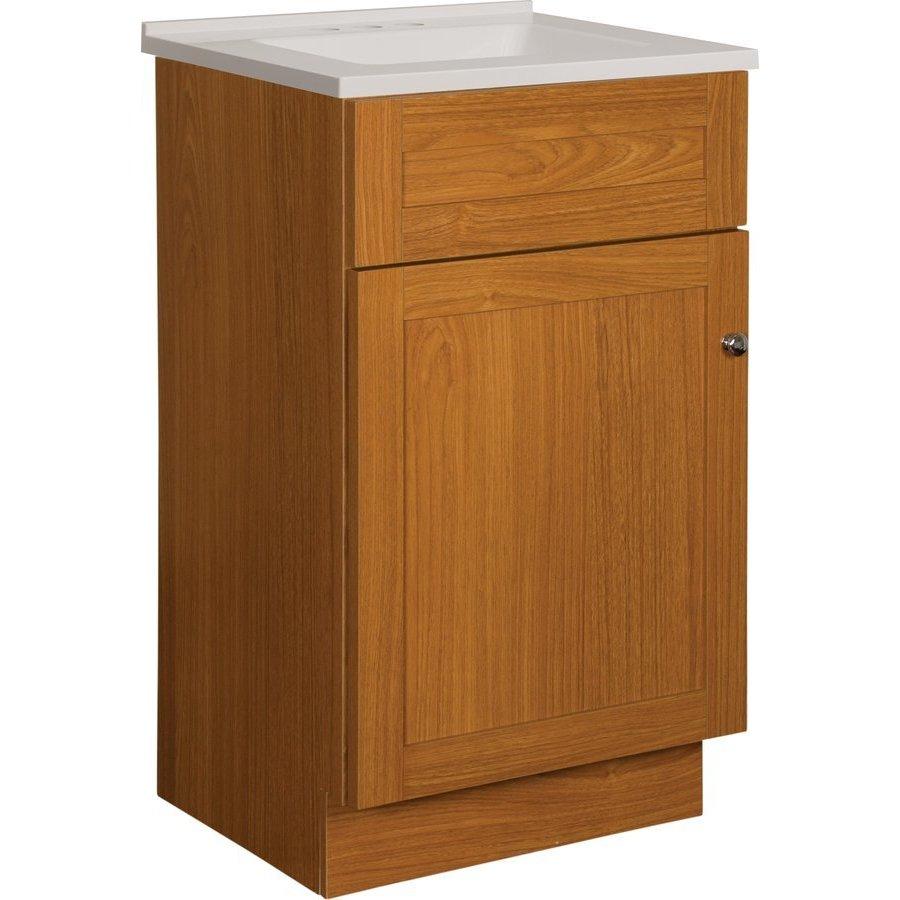 Foremost 18 Inch Dennison Single Sink Vanity Combo - Oak ...