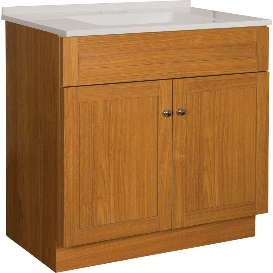 Foremost 30 Inch Dennison Single Sink Vanity Combo - Oak ...