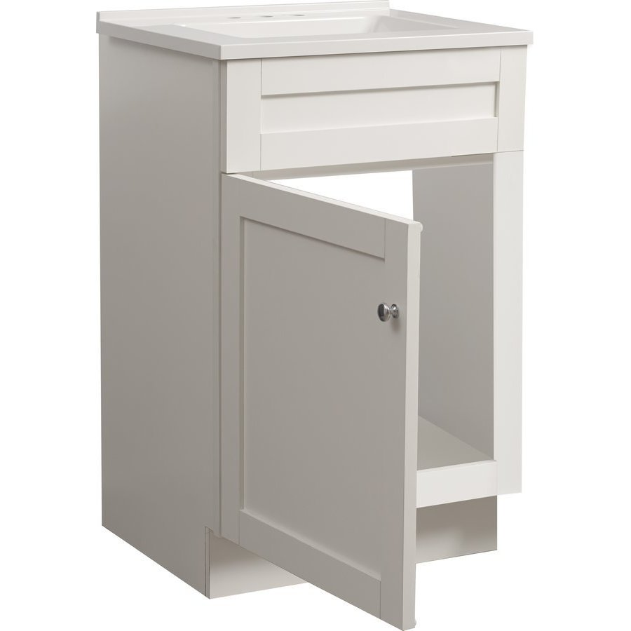 Foremost 18 Inch Dennison Single Sink Vanity Combo - White ...
