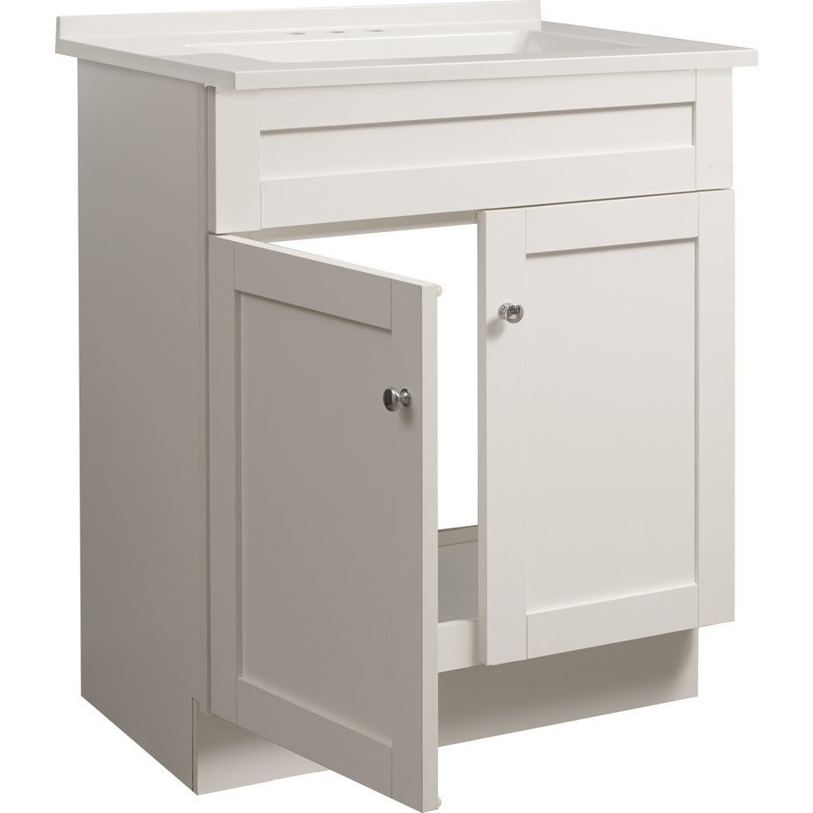 Foremost 24 Inch Dennison Single Sink Vanity Combo - White ...