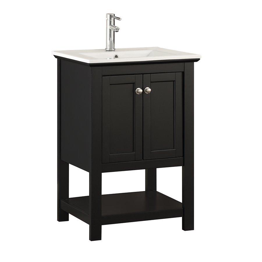 "Fresca Manchester 24"" Black Traditional Bathroom Vanity FCB2304BL-I"