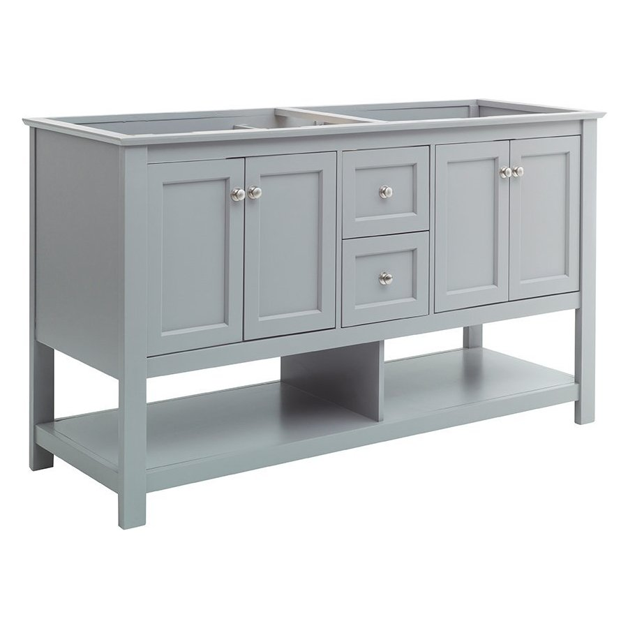 Fresca 60 Inch Manchester Double Sink Vanity Without Top Gray