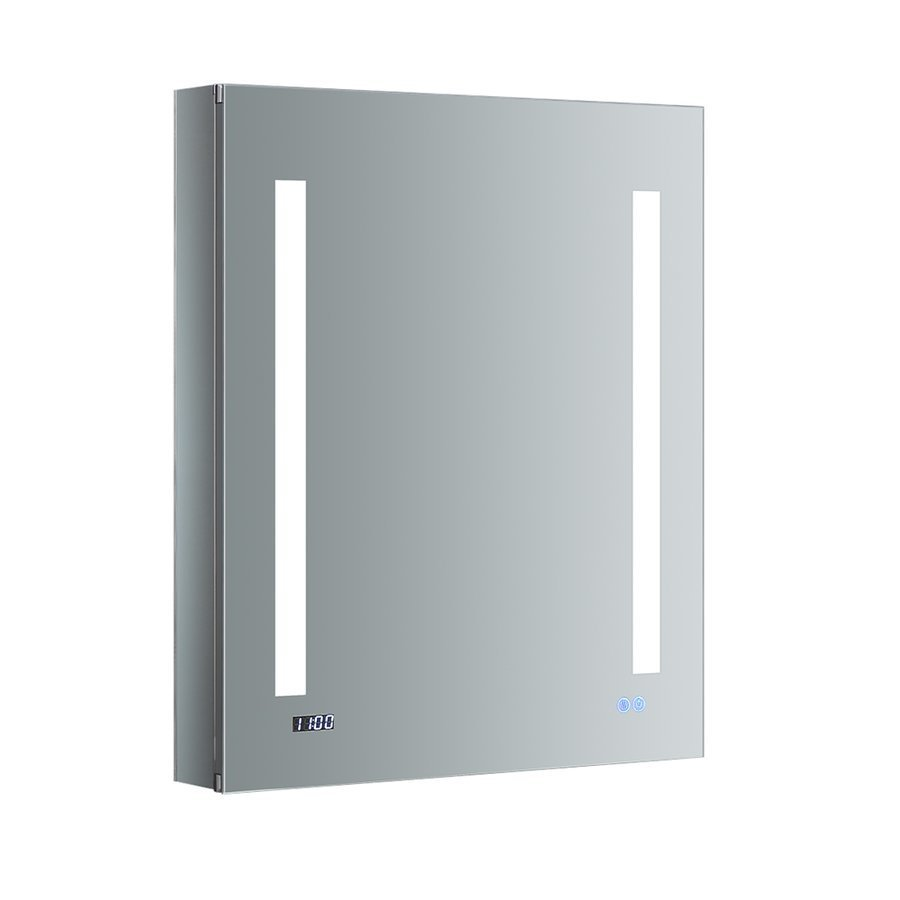 "Fresca Tiempo 24"" Wide x 30"" Tall Bathroom Medicine Cabinet w/ LED Lighting & Defogger FMC012430-L"