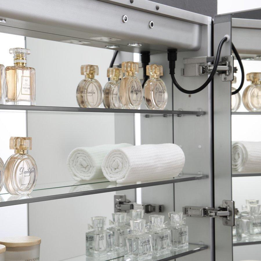 """Fresca Spazio 36"""" Wide x 30"""" Tall Bathroom Medicine Cabinet w/ LED Lighting & Defogger FMC023630"""