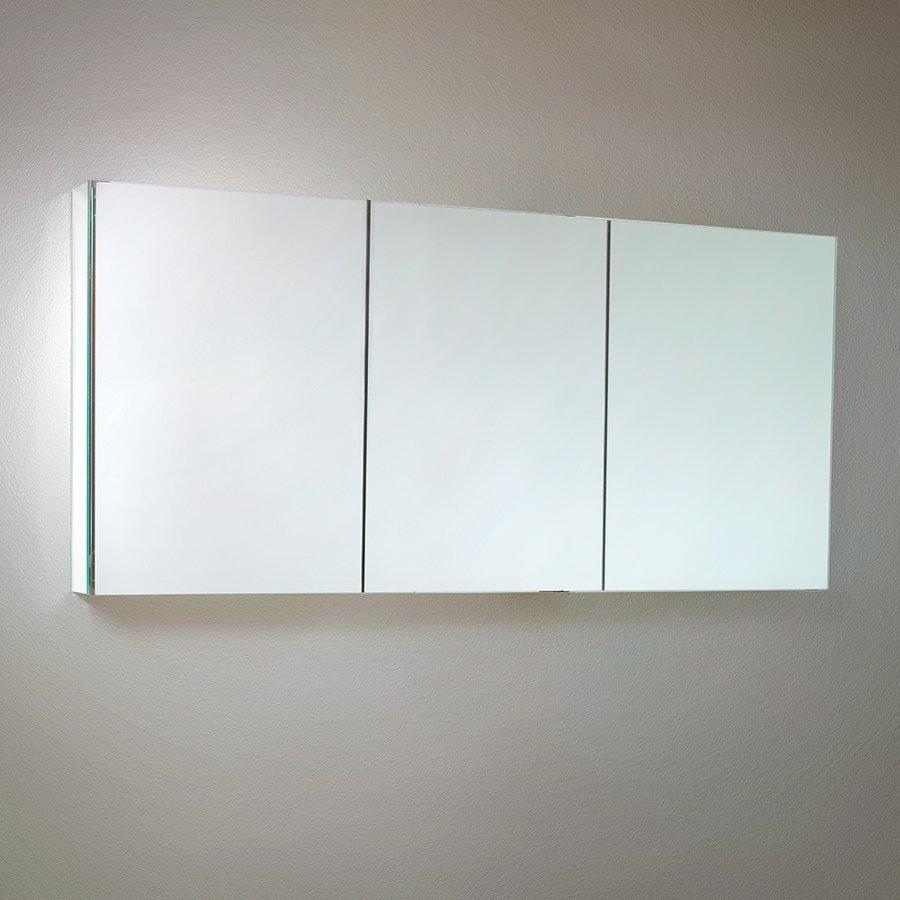"""Fresca 60"""" Wide x 26"""" Tall Bathroom Medicine Cabinet w/ Mirrors FMC8019"""