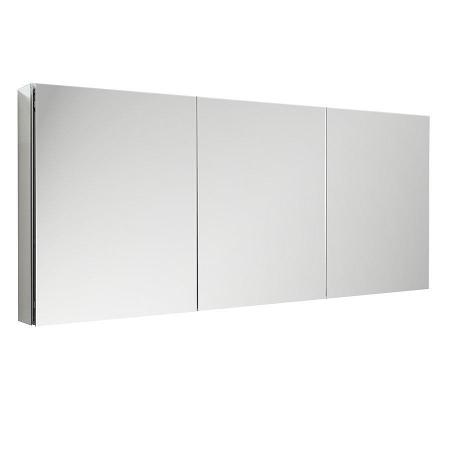"""Fresca 60"""" Wide x 36"""" Tall Bathroom Medicine Cabinet w/ Mirrors FMC8020"""