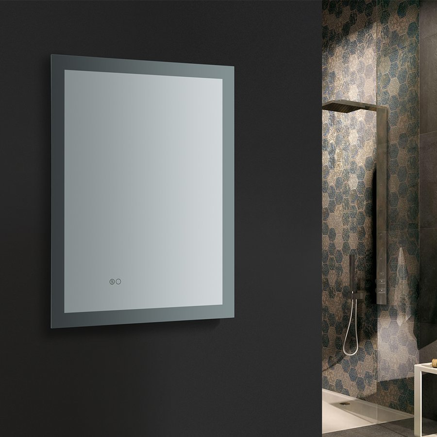 "Fresca Angelo 24"" Wide x 30"" Tall Bathroom Mirror w/ Halo LED Lighting and Defogger FMR012430"