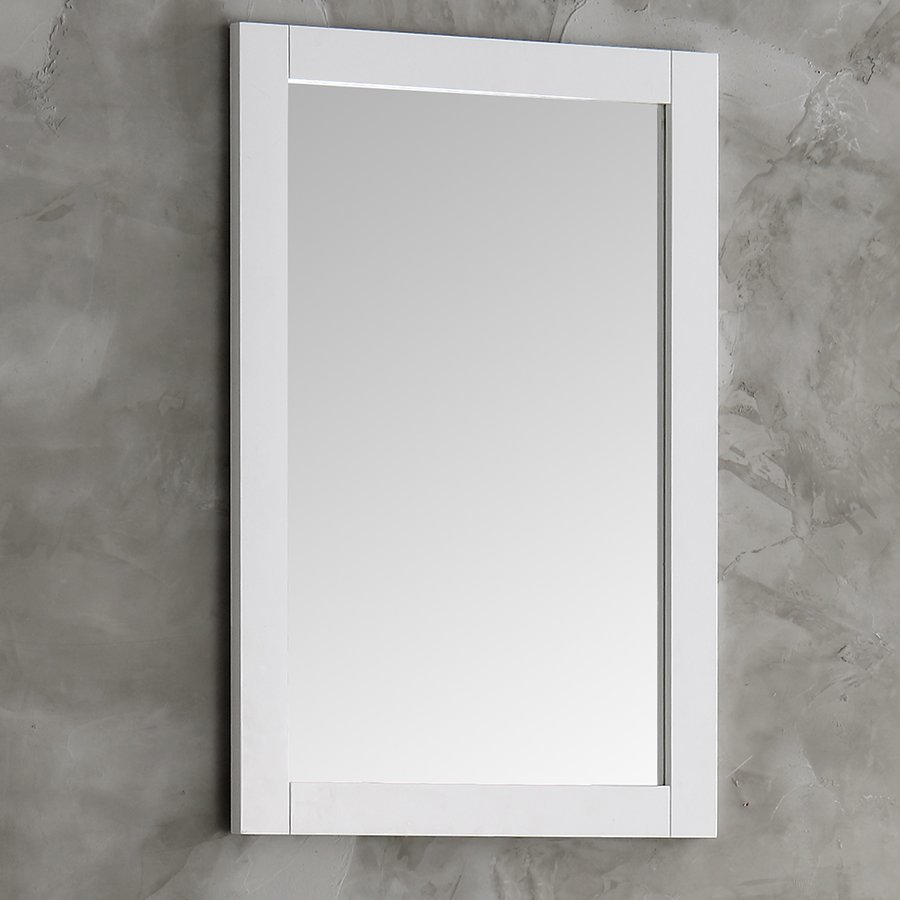 "Fresca Hartford 20"" White Traditional Bathroom Mirror FMR2302WH"