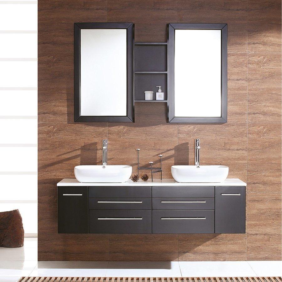 """Fresca Bellezza 59"""" Espresso Modern Double Vessel Sink Bathroom Vanity FVN6119ES"""