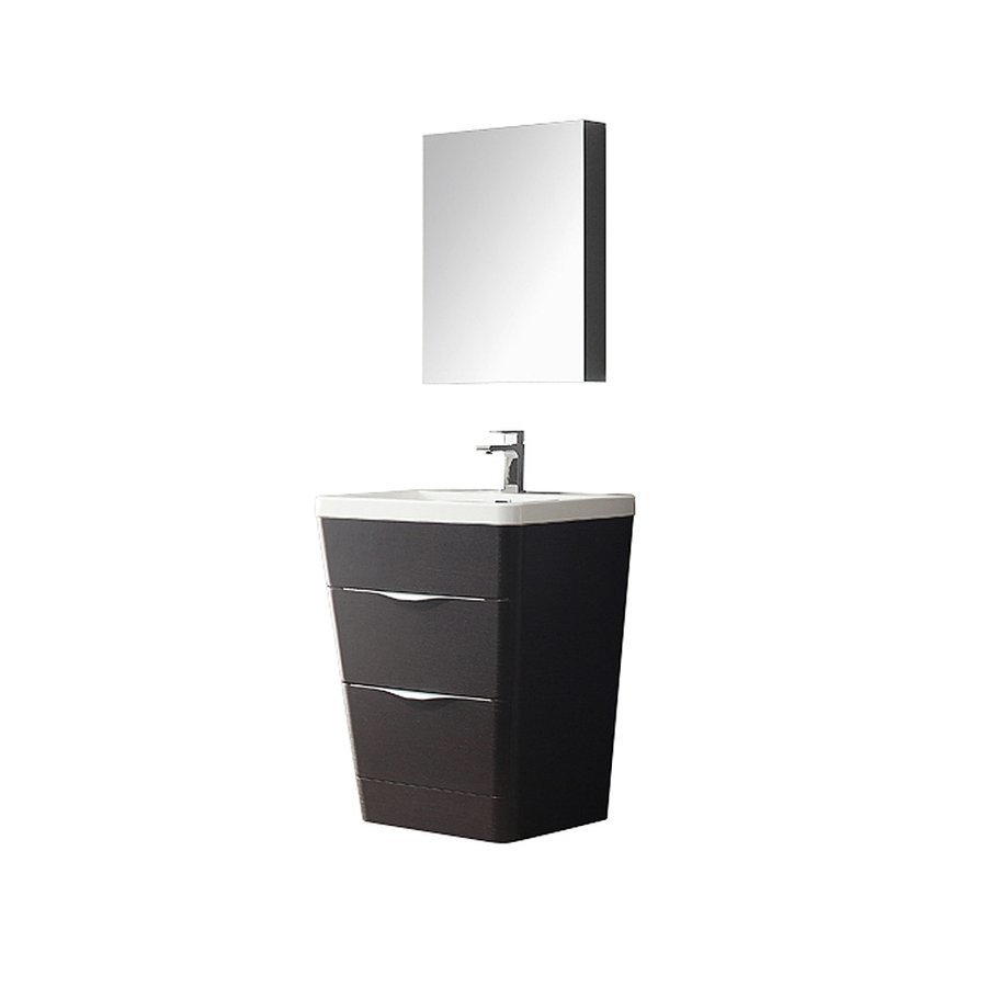 Fresca Milano 26 Chestnut Modern Bathroom Vanity W Medicine Cabinet Fvn8525cn Keats Castle