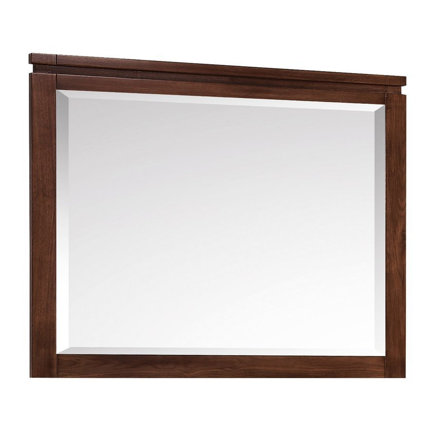 Avanity Giselle 38 Inch Beveled Mirror - Natural Walnut GISELLE-M38-NW