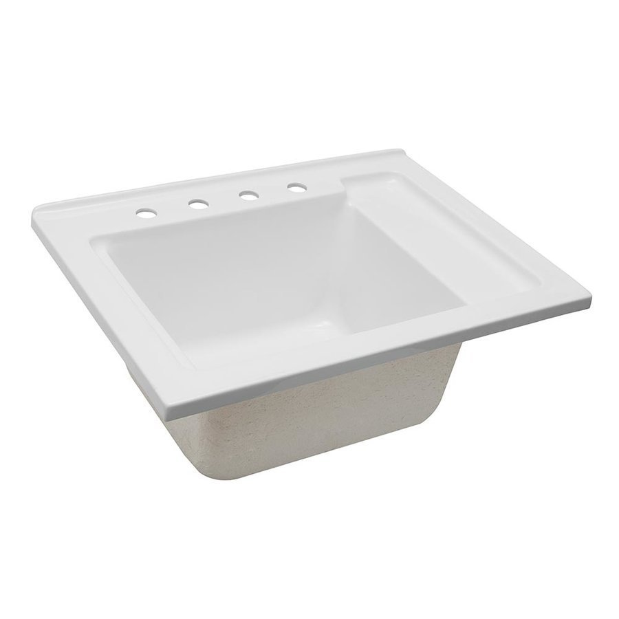 Foremost 30 Inches Drop-in Acrylic Laundry Sink - White LS-3021-W