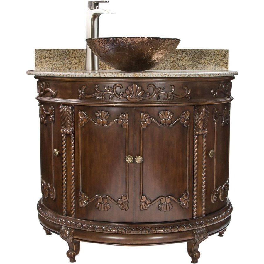 Jsg Oceana 37 Inch Semi Circle Single Sink Bathroom Vanity With