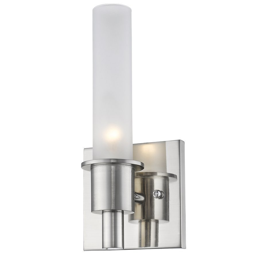 Siret Kuhn 1-Light Sconce with Etched Glass Shade - Brushed Nickel ST1048-BN