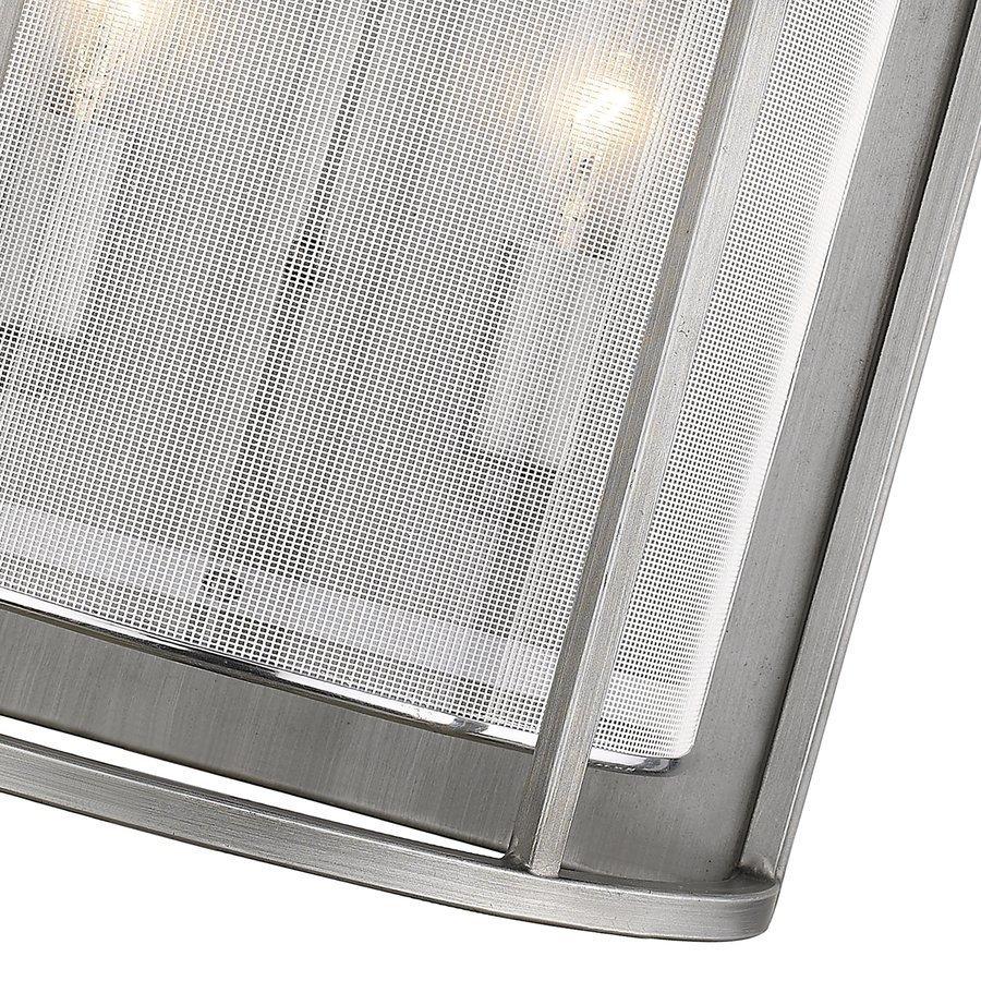 Siret Haynes 2-Light Sconce Mesh Overlay - Brushed Nickel ST1128-BN