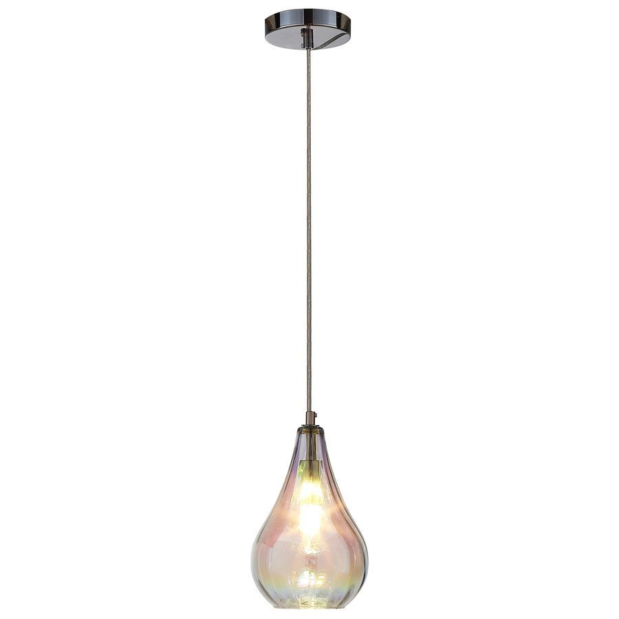 Siret Bohm 1-Light LED Pendant with Iridescent Glass Shade - Chrome ST901006-MT