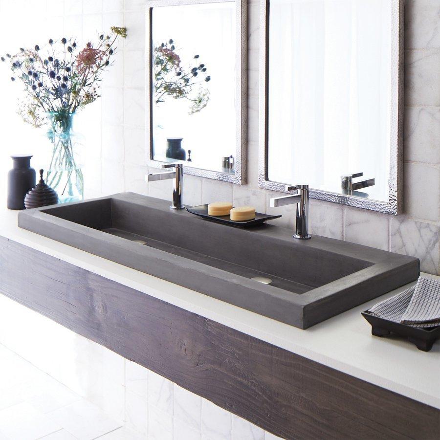 Native Trails 48 X 19 Trough Drop In Bathroom Sink Slate Nsl4819 S Keats Castle