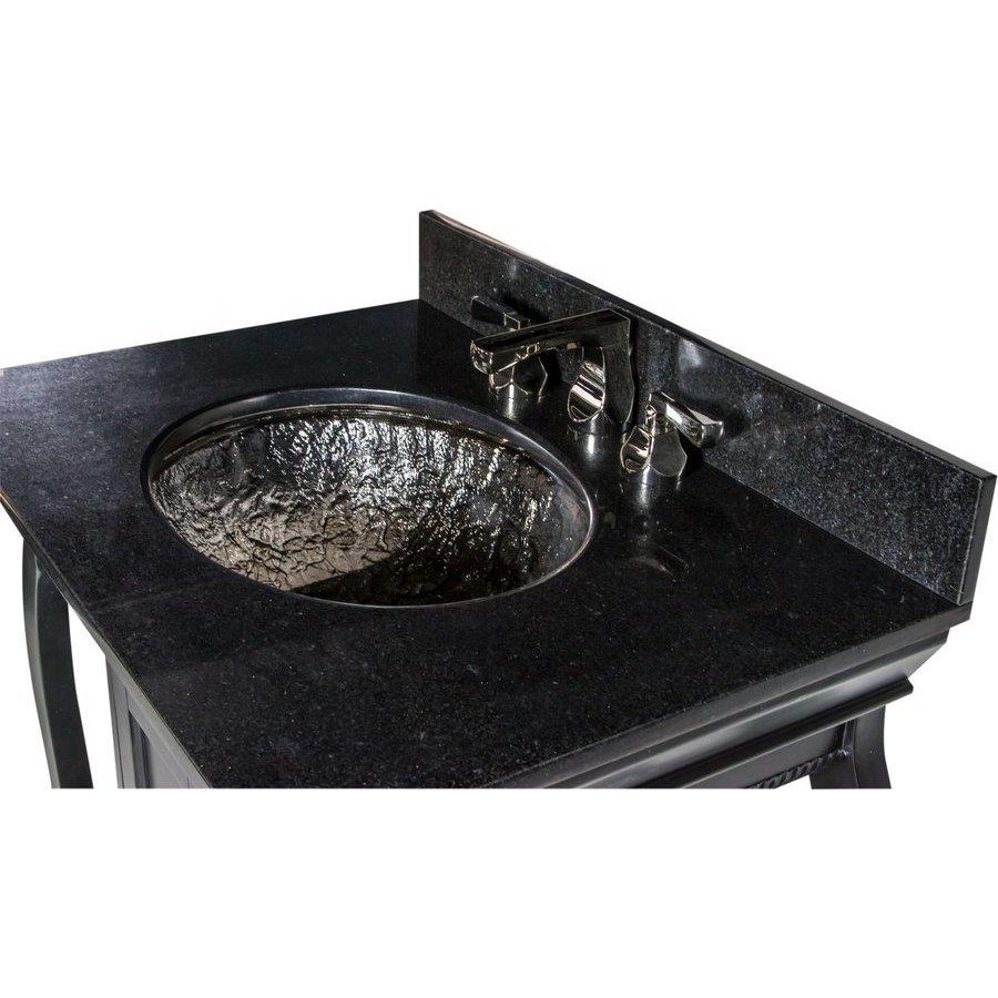 Jsg Oceana 30 Inch Vineta Single Sink Bathroom Vanity With Black Nickel Oceana Undermount Sink Black Vin Blk 007 022 Keats Castle